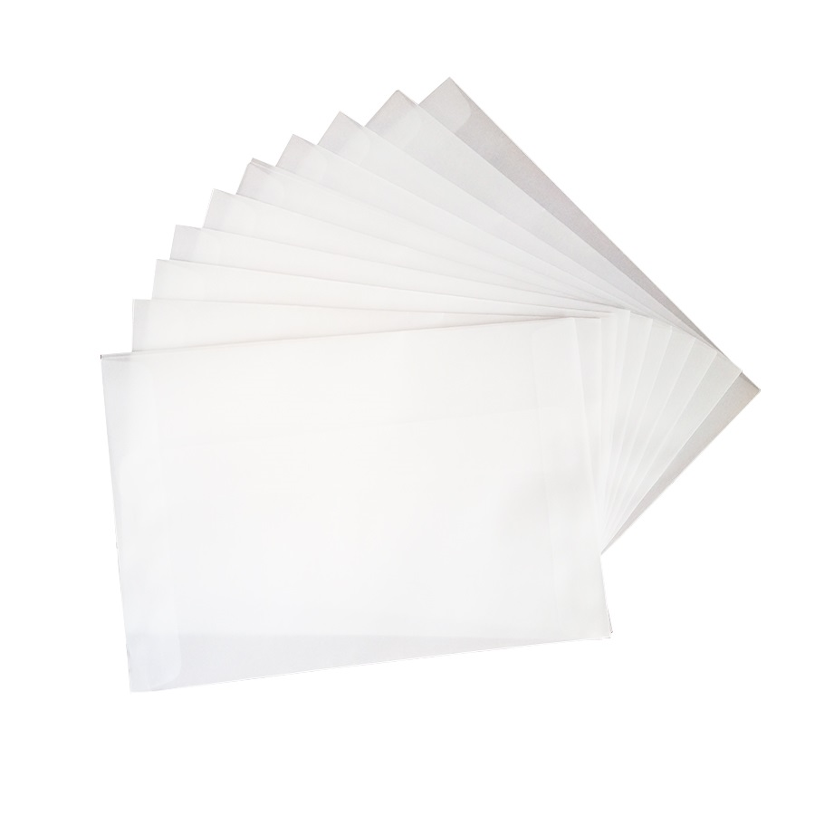100pcs/lot Blank Translucent vellum envelopes DIY Multifunction Gift card envelope with seal sticker for wedding birthday 1
