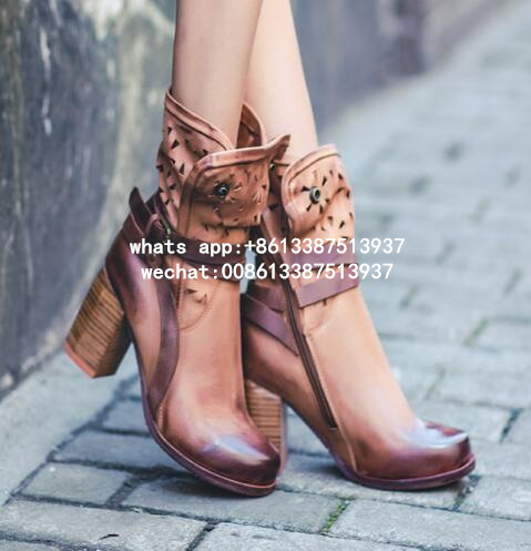 2017 Road Heel Boot Ultra cool and sleek western-inspired boots Chunky block heel and classic buckle strap cut out ankle booties vintage classic block chunky high heel