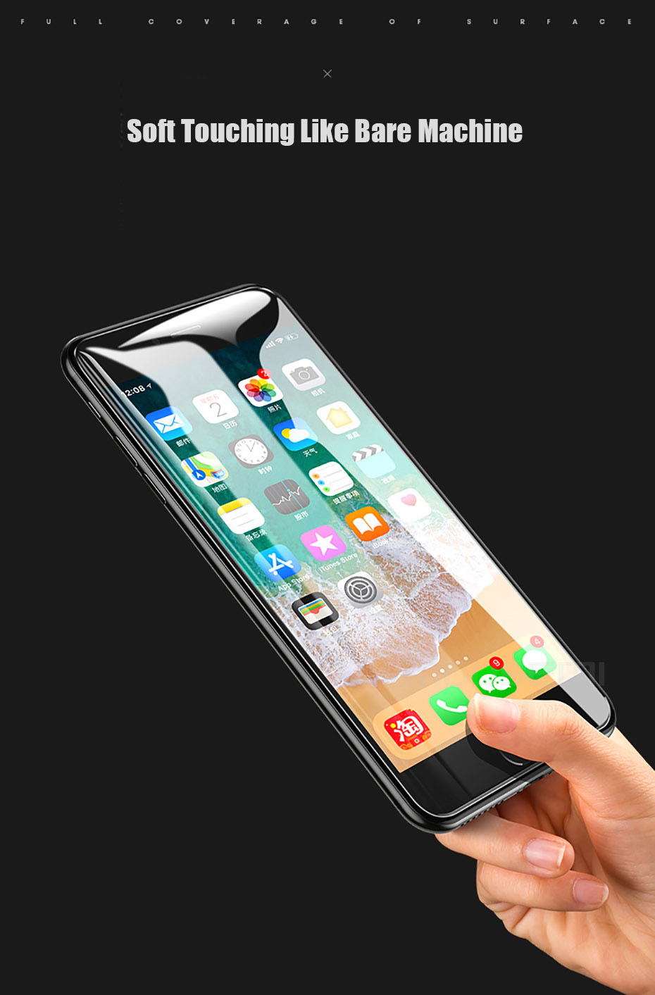 MOUSEMI 6D Full Protective Glass For iPhone X 9H Screen Protectors Film Curved Edge For iPhone 7 8  6s 6 Plus Tempered Glass On (13)