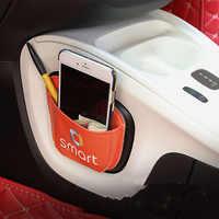 Per Smart Fortwo Forfour 453 451 Auto Articoli Vari di Telefonia mobile Della Carta Stroage Sacchetto Della Maglia nel Bagagliaio Dell'organizzatore Sacchetto Bastone auto-styling