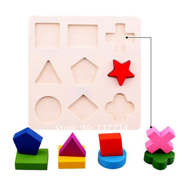 Hot Sale 1Pcs Wooden Square Form Puzzle Toy Tidlig Educational - Puslespill - Bilde 2