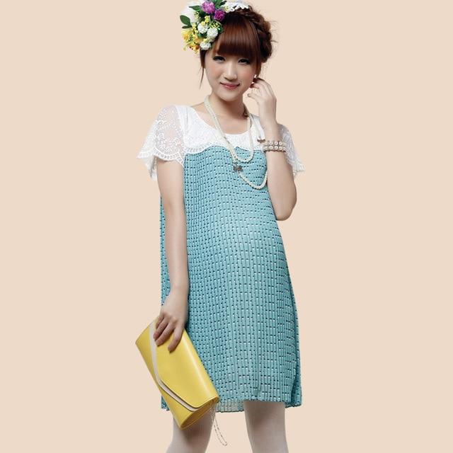 b0a9afb44d1 Pregnant beauty Pregnant women chiffon dress summer new Korean fashion  maternity wear short-sleeved dress 720 455 pregnant women