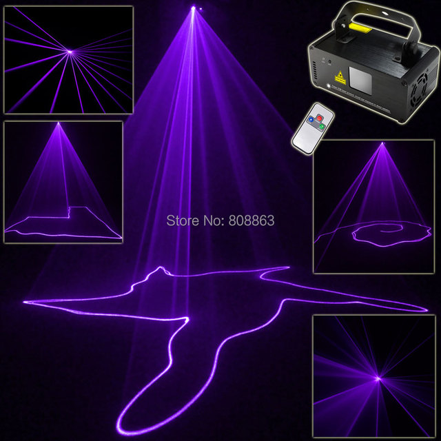 violet purple laser lines beam scans remote dj dance bar xmas party