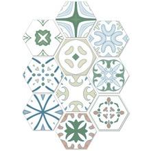Self Adhesive DIY Vintage Moroccan Baroque Style Tile Floor Sticker Kitchen Washing Living Room Decor Stickers Pvc Waterproof
