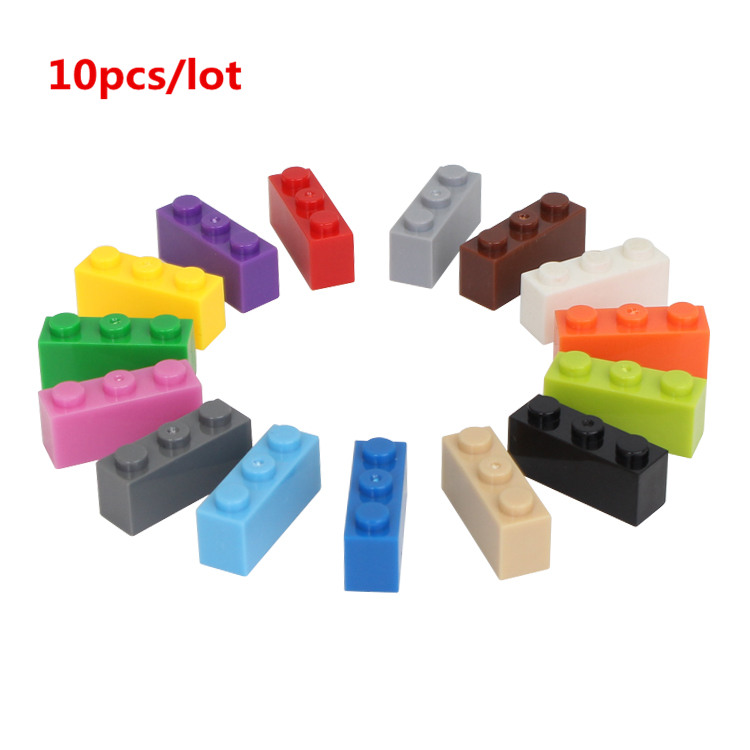 10 Teile/los 1*3 Diy Gebäude Block Dicken Bricks Kompatibel Mit Legoe Pädagogisches Spielzeug Multicolor Geschenk Für Kinder