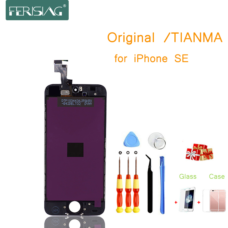 SE OEM/TIANMA LCD Display For iphone SE Factory AAAA+ LCD Screen Display Part Glass Touch Panel Digitizer Assembly Complete