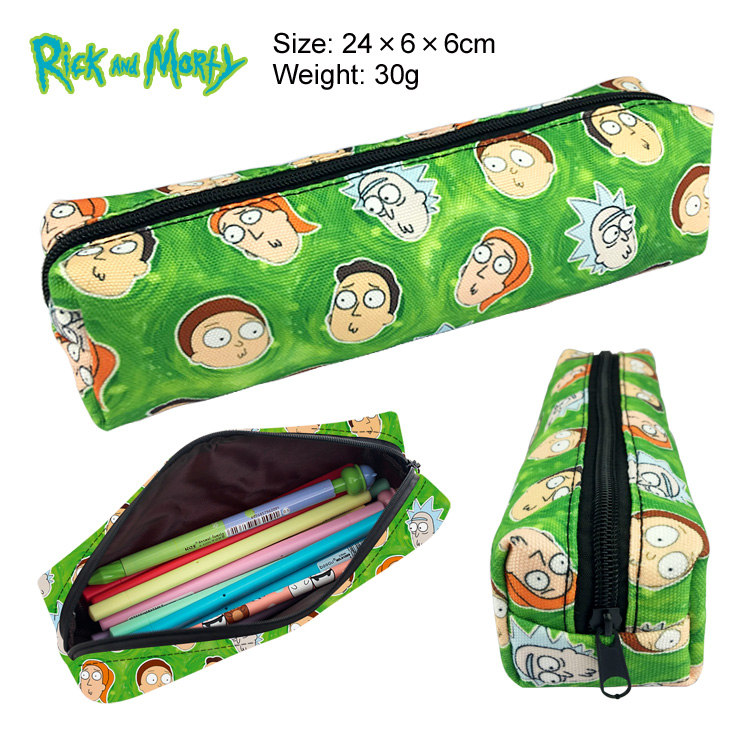 Unisex Makeup Bag Bag Pikachu Storage Pouch Handbags Rick And Morty Pickle Rick Pencil Case Zipper Pen Box Cosmetic Bags Gift
