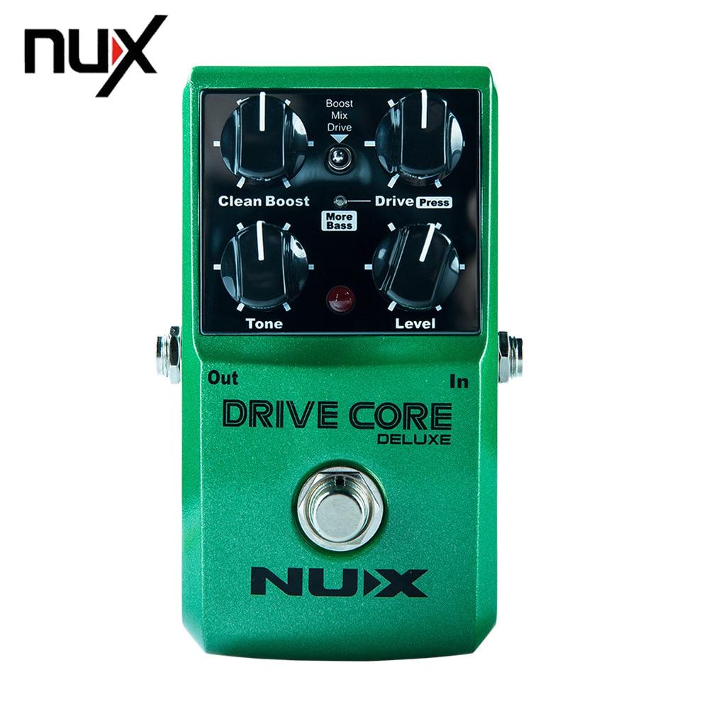 NUX Drive Core guitare normale et de luxe Violao pièces pédale effet électrique mélange de Boost et Overdrive son True dérivation