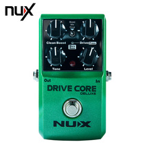 NUX Drive Core normal and deluxe Guitar Violao Parts Electric Effect Pedal Mixture of Boost and Overdrive Sound True Bypass 2013 nux hg 6 modern high gain distortion effect electric guitar effect overdrive effect pedal true bypass hardware switching
