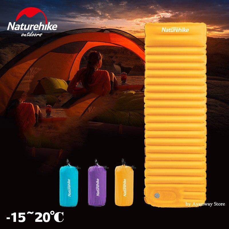 Naturehike NH18Q001-D Poussée Extérieure Gonflable Tapis de Camping pour Tente Froid Étanche coussin de couchage Pique-Nique Pliage Matelas D'hiver