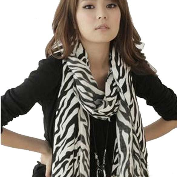 Fashion New Hot Zebra Animal Prints Women Lady Long Zebra Large Stripe   Scarf     Wrap
