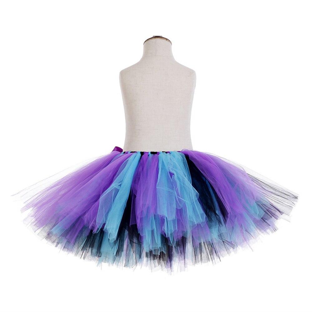 Rainbow Skirt Knee Length Nylon Mesh Tulle Skirt Kids Back to School Costume Happy Easter Party Tutu Skirt with Ribbon Bowknot (8)