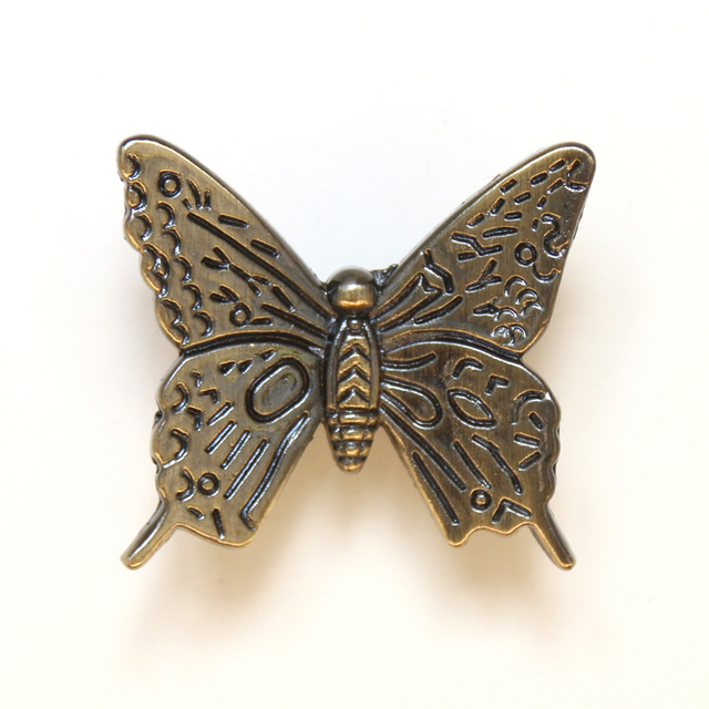 Butterfly Shaped Cabinet Knob Antique Dresser pull Knob Drawer Knob ...
