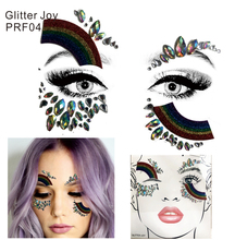 arcanery PRF04 1Pc Glitter Colorful Rainbow with Face Eye Jewel Forehead Party  Makeup cf0ed55987eb