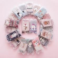2018 new spring women socks 2 pair gift box cotton cartoon print creative fashion socks for