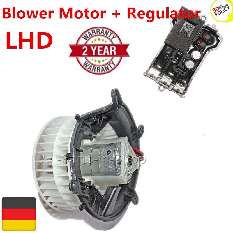 2208203142 2038214058 Blower Motor + Regulator for Mercedes S Class W220 C215 & Maybach 240_ 1999 2012 LHD 2208203142