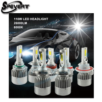SPEVERT Upgraded 110W HID Conversion KIT LED Headlight Bulbs 26000LM H1 H3 H4 Hi Lo H7