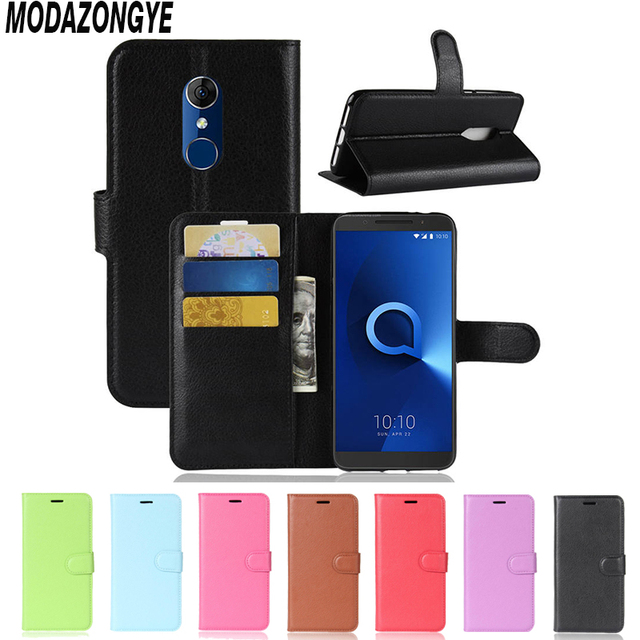 on sale f57b4 01d0c US $3.36 20% OFF For Alcatel 3 Case Alcatel 3 5052Y Case Cover Wallet PU  Leather Back Cover Phone Case For Alcatel3 5052D 5052Y Flip Case 5.5