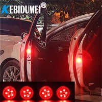 NEW 5 LEDs Car Door Opening Warning Lights Wireless Magnetic design Strobe Flashing Anti Rear-end Collision Safety Lamps