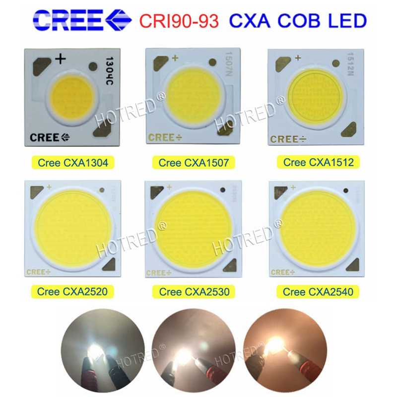 10PCS/lot Cree High CRI 90-93 CXA1304 CXA1507 CXA1816 CXA2520 CXA2530 CXA2540 2700K 3000K 3500K 4000K CRI90 COB Chip Diode LED