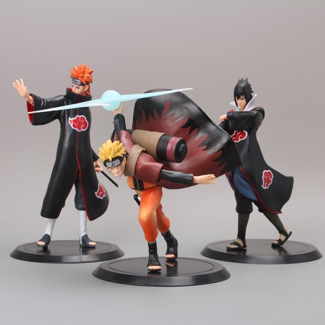 Naruto Pain Uchiha Sasuke  3pcs/set PVC Action Figure Model Toys