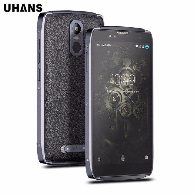 UHANS U300 5.5 дюймов Octa Ядро 4 Г Мобильный Телефон Android 6.0 4 ГБ RAM 32 ГБ MTK6750T ROM FHD IPS 13MP Cam 4750 мАч Батареи смартфон