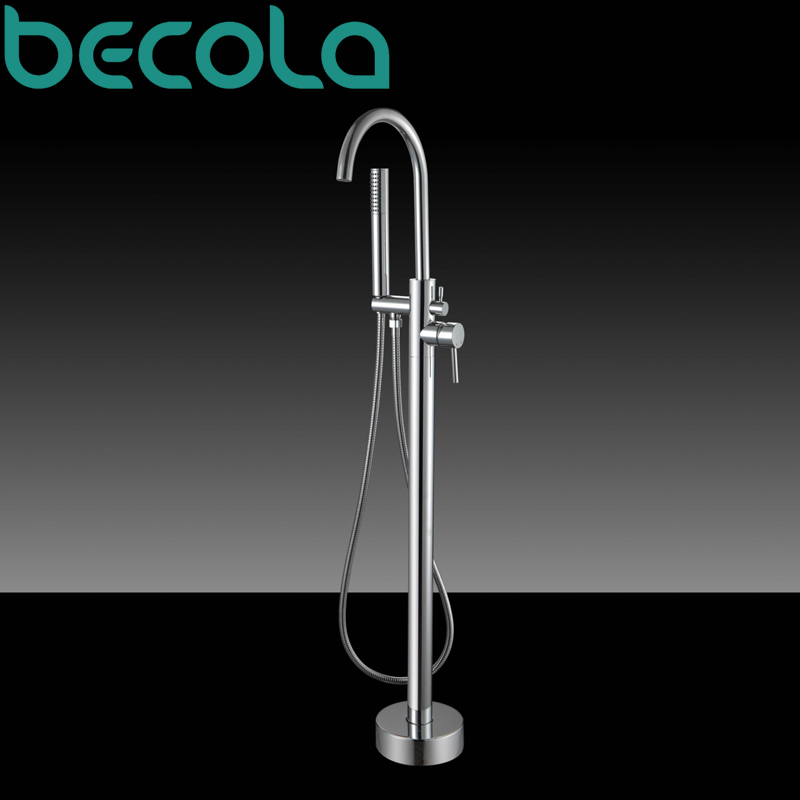 Becola Brand Design Perfect Bathroom Floor Stand Bathtub Faucet Cold And Hot Shower Set B 88001