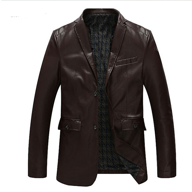 L-8XL!!!!! The New Spring 2015 Men's Fashion High-Grade Large Size Men's Brand Leisure Suit Brought The Leather Jacket