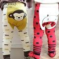 2017 Autumn kids clothing boys girls harem Leggings pants sock sets cotton cartoon monkey rabbit ladybird trousers baby pants