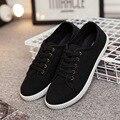 Белый холст обувь низкие, чтобы помочь новый белый женская обувь осень модные ботинки холстины b2