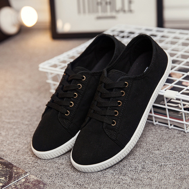 Blanco zapatos de lona bajos para ayudar a las nuevas mujeres blancas zapatos otoño zapatos de lona de moda b2