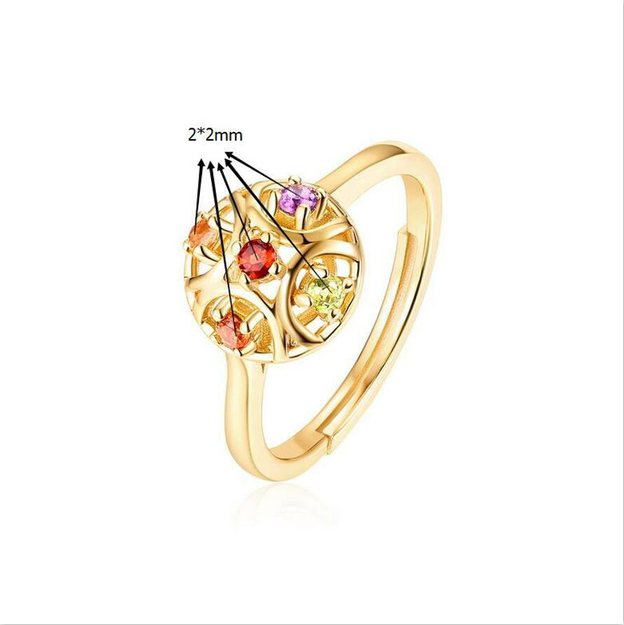 Fashion 925 sterling silver garnet retro style red yellow purple green color treasure jewelry female explosion models J0117 in Rings from Jewelry Accessories