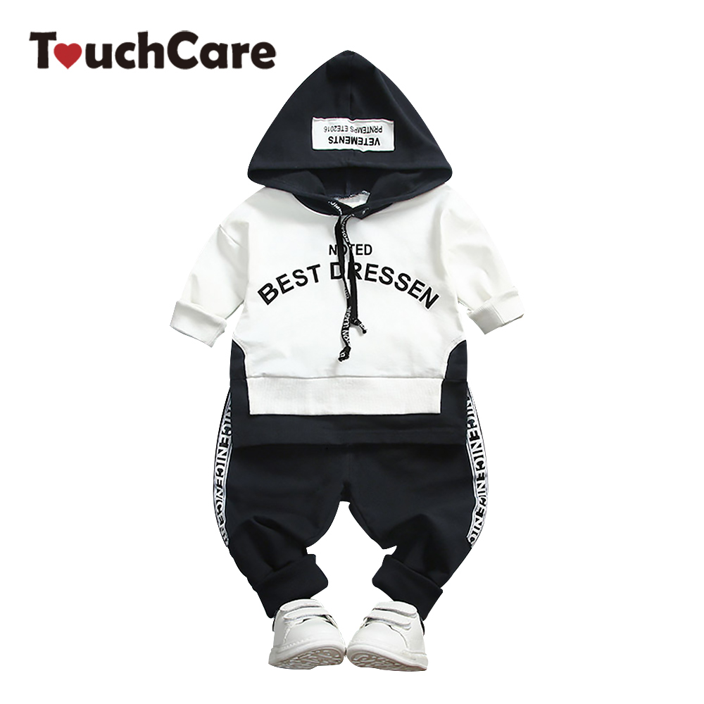 Baby Boy Clothing Set Kids Hooded Sweatshirt Clothes Letter Print Tops Pant Outfit Boys Tracksuit Children T-shirt Sports Suit 2pcs set toddler kids girls clothes wild heart long sleeve t shirt tops pant outfit cute girl children suit 1 6y
