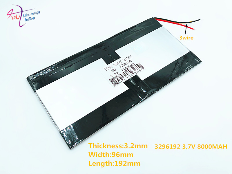 3 Line 3296192 3.7V 8000MAH 3095190 For Teclast X98 Air 3G P98 3G Tablet PC Battery 3 Wire X98 X98 AIR P98 X98 P98HD P98