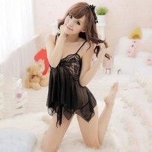 9dd8f35467 Sexy Lace Lingerie mesh night Dress Babydoll G string women underwear  nightdress female sleepwear erotic costumes. 2 Colors Available