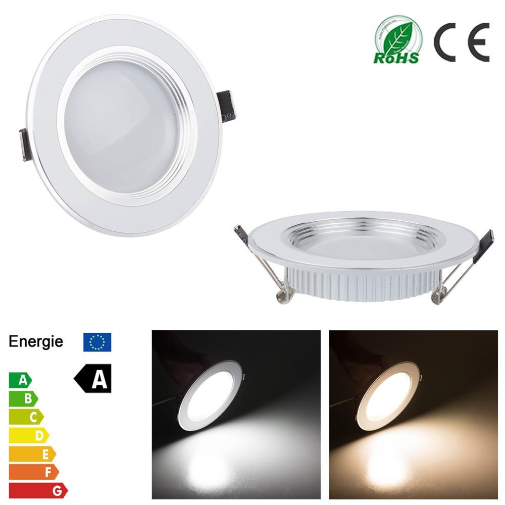 6 pcs/lot Dimmable Spot LED Downlight 3 W 5 W 7 W 9 W 12 W Led lumières pour La Maison Encastré Cuisine Lampe Froid/Blanc Chaud AC 110 V 220 V