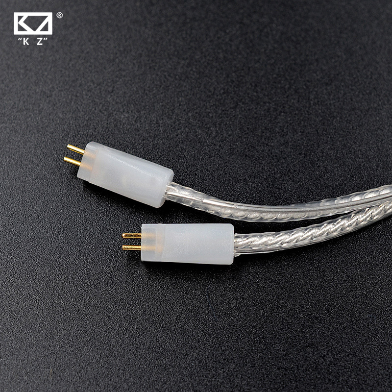 KZ ZS3 ZS5 Dédié Câble 0.75mm 2-Pin Mis À Jour Plaqué Argent câble 2 BROCHES Mise À Niveau Câble Ues Pour KZ ZS5/ZS3 Livraison gratuite