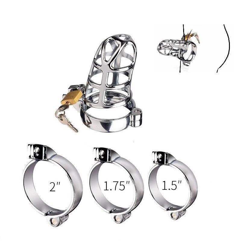 40/45/50mm für wählen Vogel Käfig Keuschheit Gerät CB6000 metall cock BDSM bondage penis ring schloss zurückhaltung männlichen sex spielzeug für männer