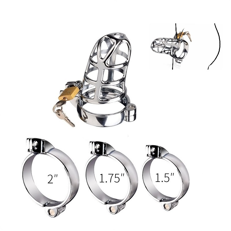 40/45/50mm for choose Bird Cage Chastity Device CB6000 metal cock BDSM bondage penis ring lock restraint male sex toys for men new plastic male cock lock penis ring electric shock chastity device cage cb6000 bondage restraint sm electro sex toy for men
