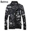 2017 новых прибытия высокого качества моды весна отпечатано повседневная тонкий стенд воротник куртки мужчины. лето тощий мужская куртка J17036