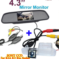 YeHeng Store Wireless HD4 3 Color TFT LCD Car Rear View Mirror Monitor And CCD Car
