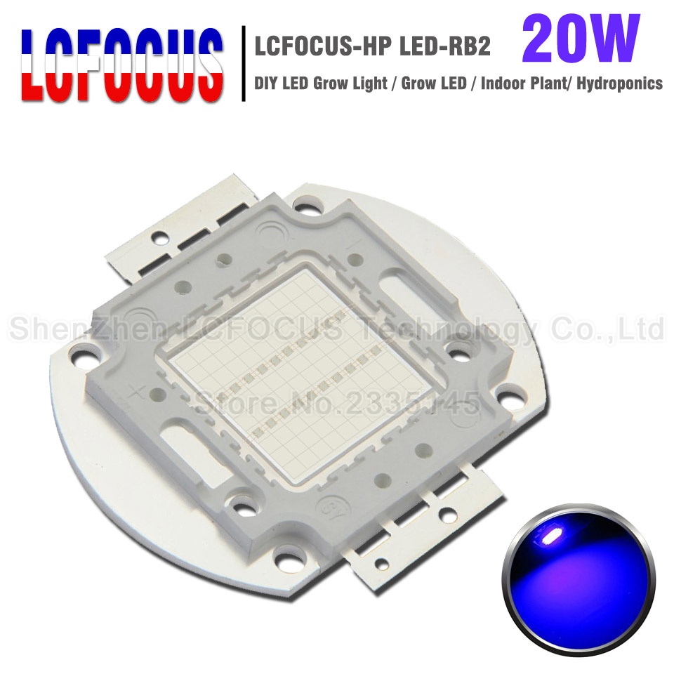 High Power 20W Grow LED Royal Blue 440nm + Blue <font><b>470Nm</b></font> DIY 20W 60W 80W 100W Grow Light For Plant Flower Vegetables Growing image