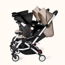 Twin baby stroller lightweight folding detachable sitting lie newborn multi-function dragon and baby baby double gift basket