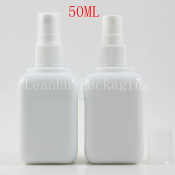 50ml X 14 White Glass Spray Bottle,50cc Makeup Sub-bottling, Perfume/Toner/Water Packaging Bottle,Empty Cosmetic Container