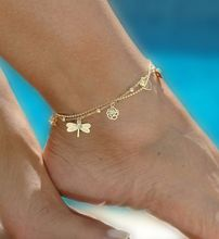 Phesee 7 Style Summer Trend Hot Sale Flower Leaves Butterfly Hand Infinite Anklets For Women Jewelry Gifts Wholesale 724