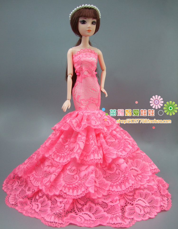 f9f9630225a Luksuslik pruut pulmakleit elegantne printsess kleit riided Barbie ...