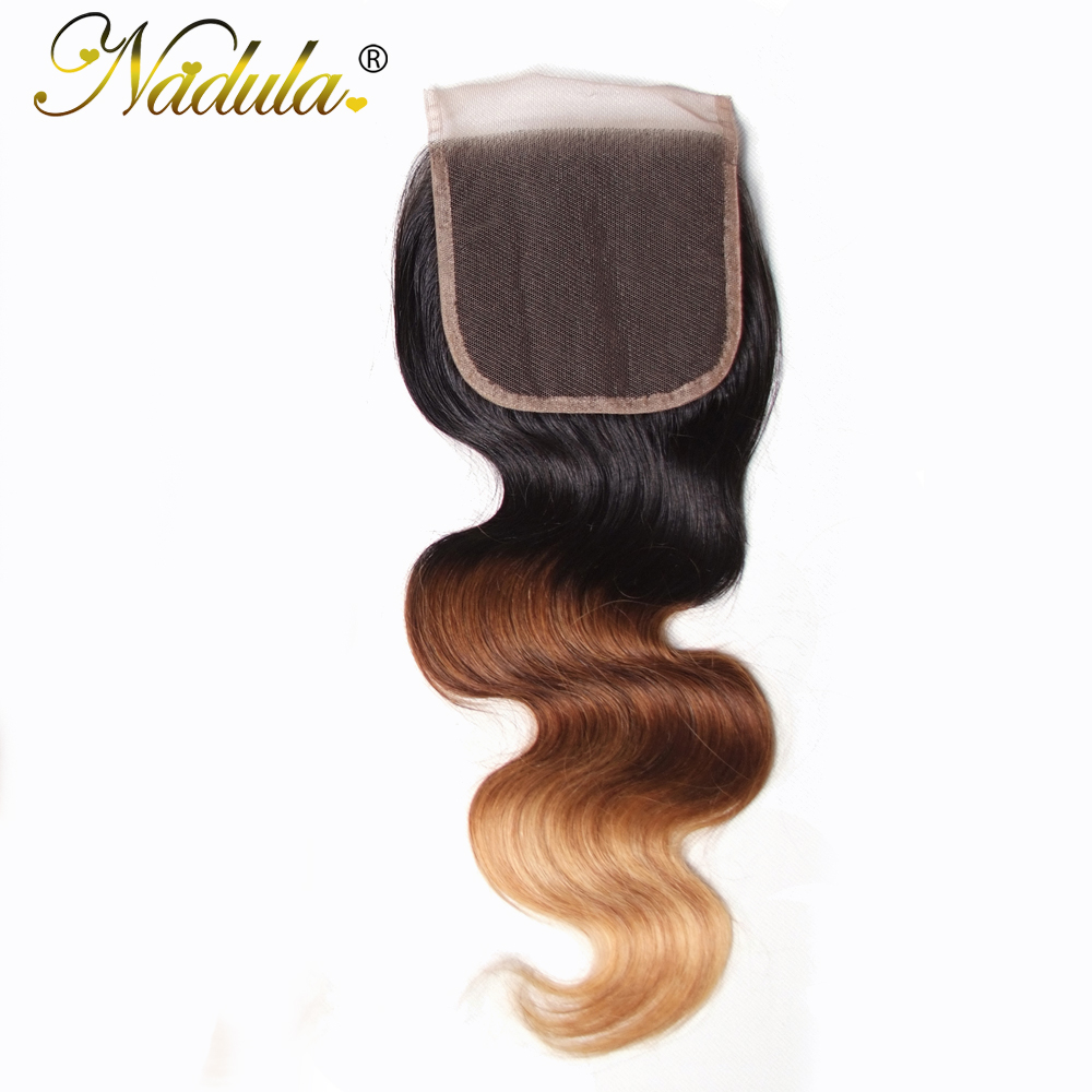 Nadula Hair Body Wave Lace Closure 10 20INCH Brazilian Human Hair Closure 4 4 Remy Hair