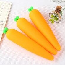 6 pcs bella borsa per penna carota personalità creativa, borsa per cancelleria per studenti, semplice e piccola, scatola per matite fresca cancelleria coreana