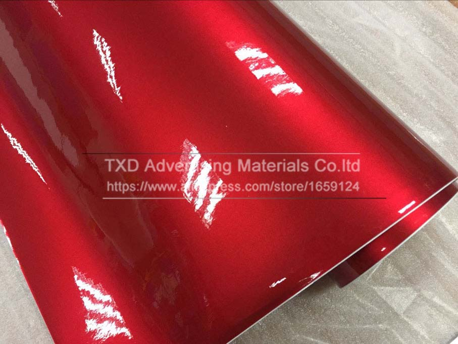Image 2 - Premium quality 10/20/30/40/50/60X152CM/Lot Red Metallic Glossy Glitter Wrap Sticker for car wraps Glossy Candy Gold Vinyl Film-in Car Stickers from Automobiles & Motorcycles