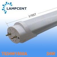 10pcs Lot Free Shipping Good Quality LED Tube T8 Lamp 24W 1500mm 1 5M 150cm 5FT